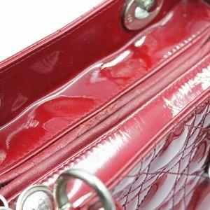 Dior Bags - Patent Cannage Medium Lady Dior Dark Red